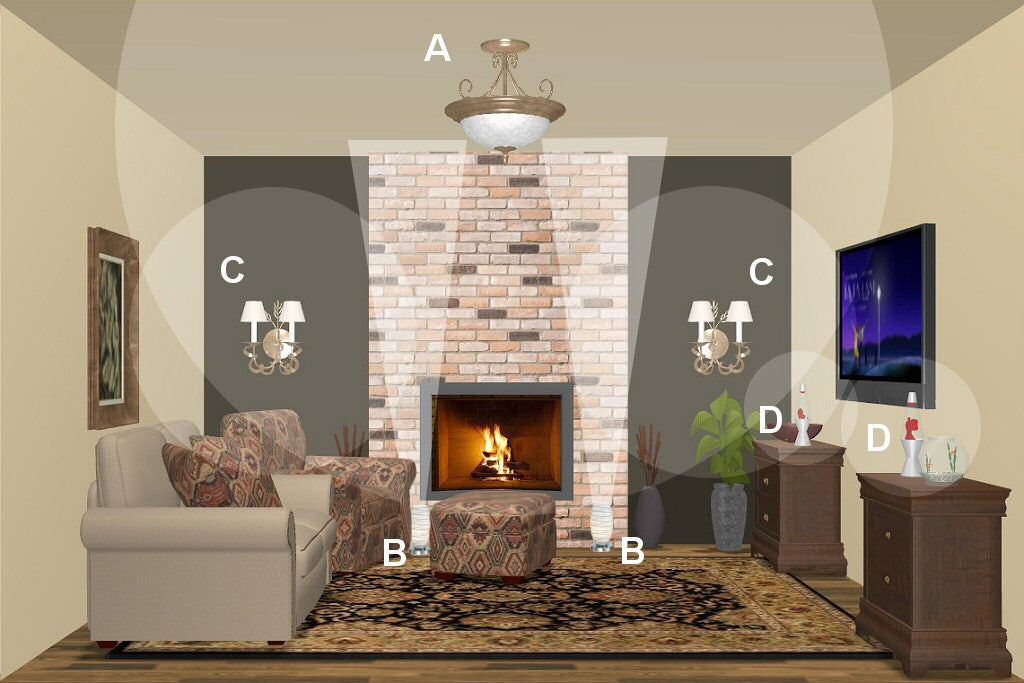 Beautiful Living Room Lighting Design Plan 5