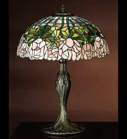 "22""h Cabbage Rose Table Lamp"