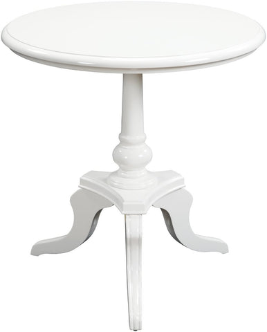 "24x25"" White Chapel Table Gloss White"