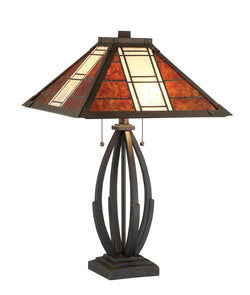 Halden 2-light Table Lamp Dark Bronze