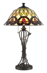 Odetta 2-light Table Lamp Dark Bronze