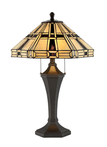 Mircea 2-light Table Lamp Dark Bronze