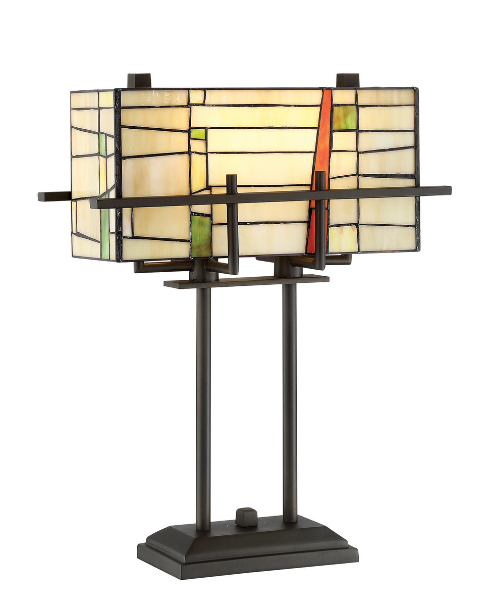 "21""H Mansur 2-light Table Lamp Dark Bronze"
