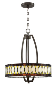 Geoffrey 3-light Pendant Dark Bronze