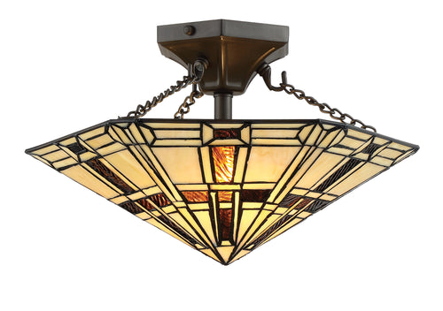 Lite Source Mircea 2-light Semi-flush Mount Dark Bronze