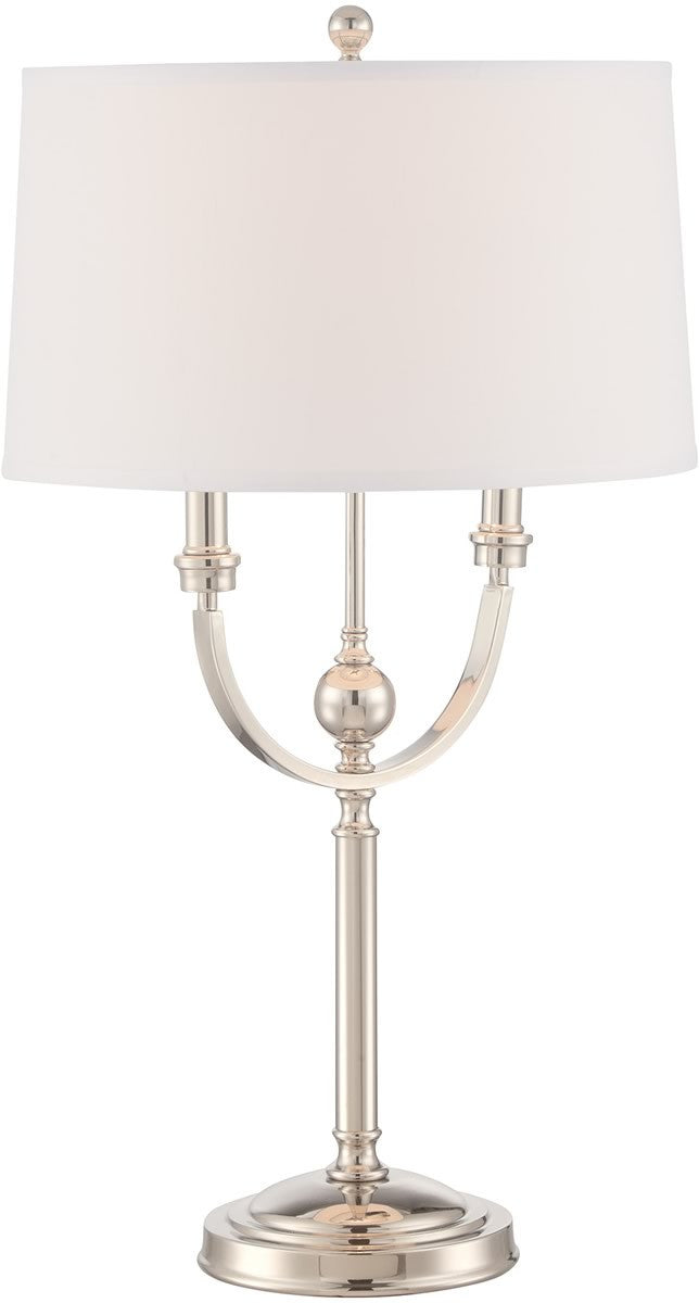"30""H Camila 1-light Table Lamp  Ps/linen Fabric Shade"