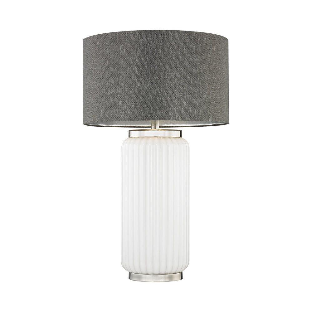 "32""H 1-Light McCall Table Lamp White/Polished Nickel"