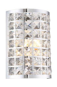 Lite Source Damond 1-light Sconce Chrome With Crystal Deco.