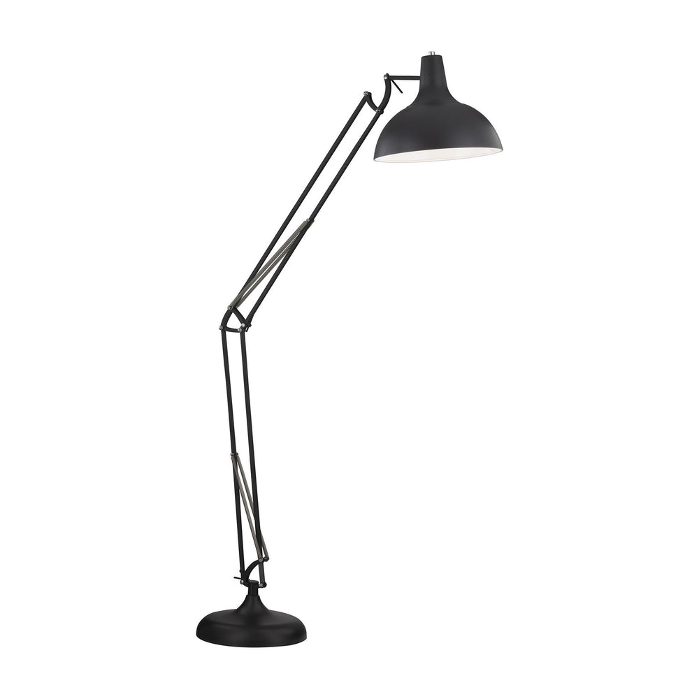 "75""H Ludwig 1-Light Arched Floor Lamp Oil Rubbed Bronze"