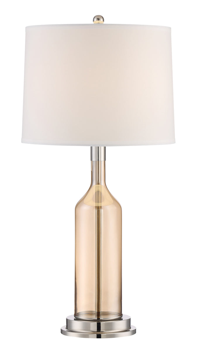 Urbano 1-light Table Lamp Polished Steel Glass Body