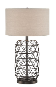 Lite Source Cassiopeia 1-light Table Lamp Black Metal