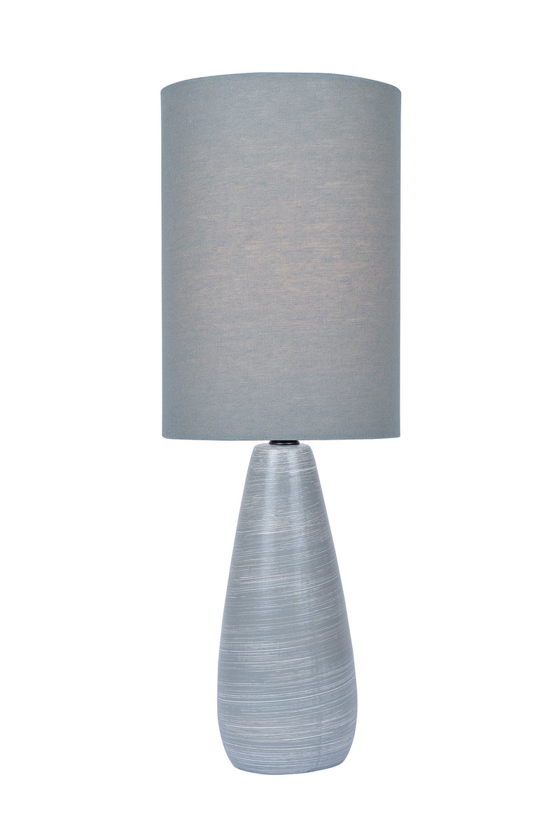 "17""H Quatro 1-light Mini Table Lamp Brushed Grey"