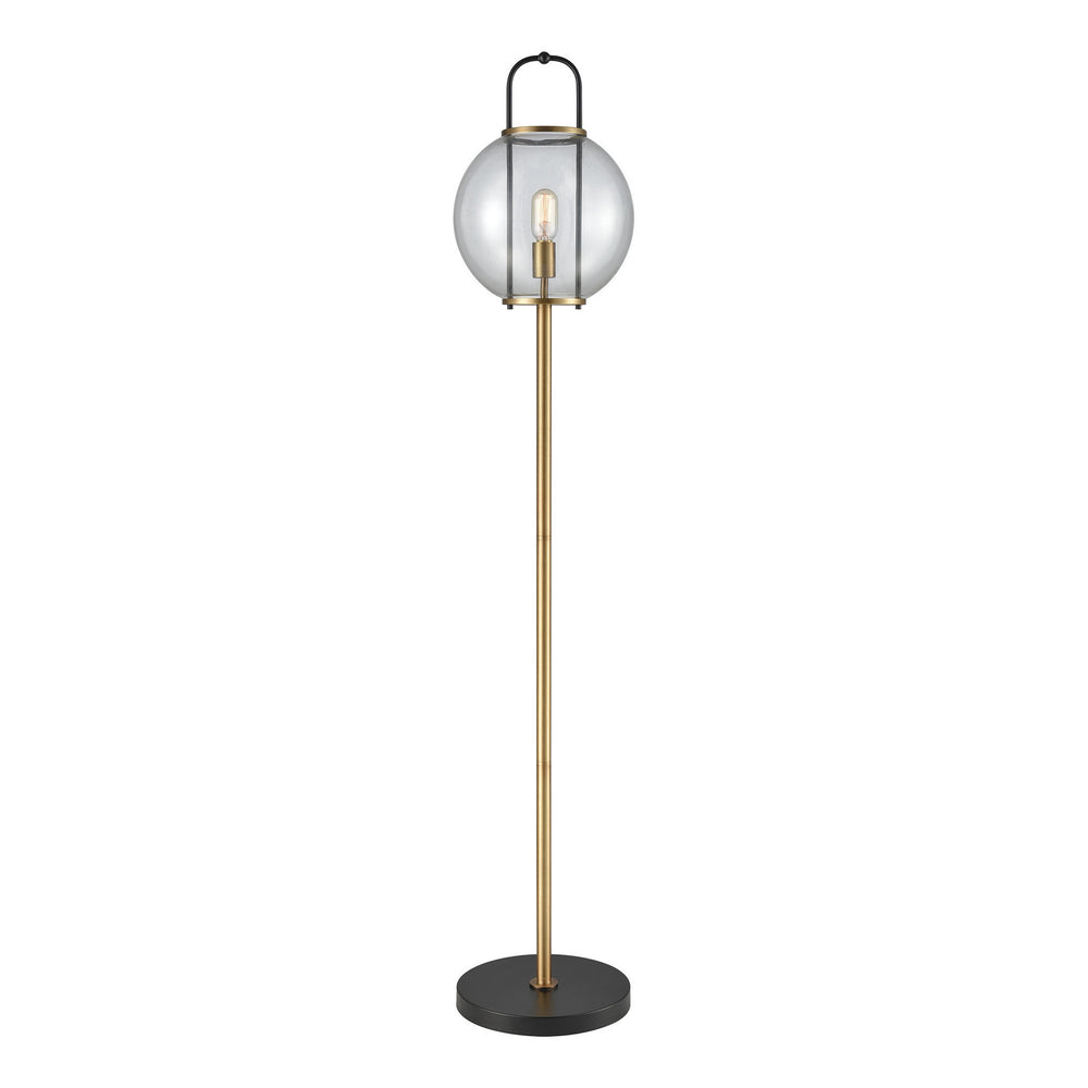 "63""H Faraday 1-Light Floor Lamp Aged Brass/Black"