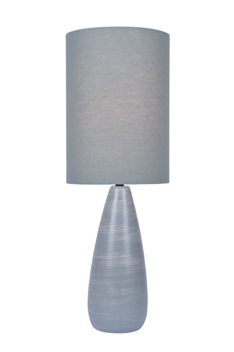 "26""H Quatro 1-light Table Lamp Brushed Grey"