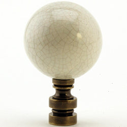 Finial Showcase Ceramic  40mm Antique Celedon Antique Base Finial