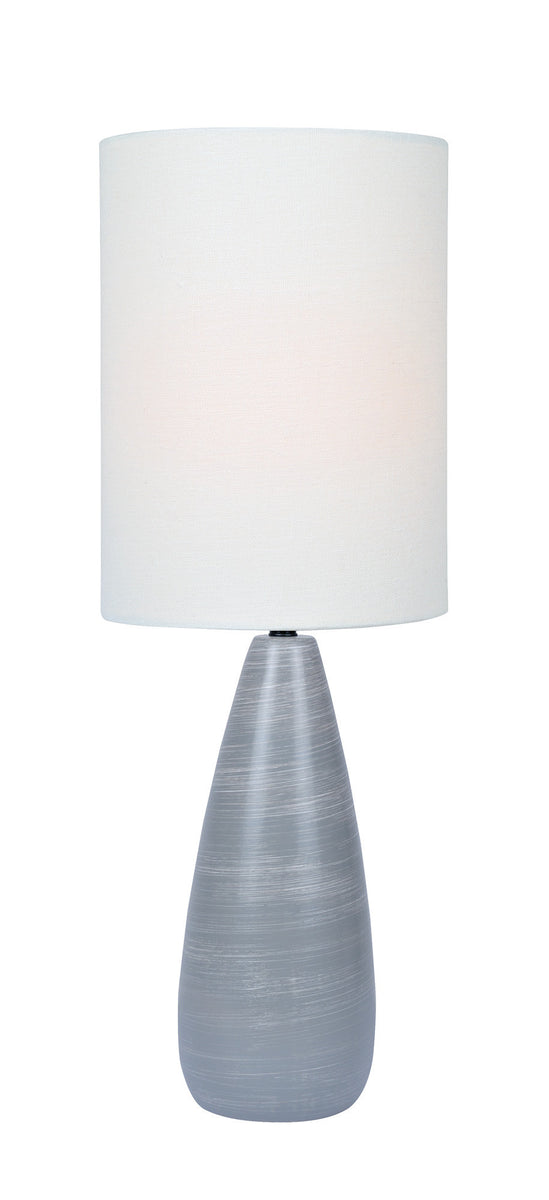 "27""H Quatro 1-light Table Lamp Brushed Grey"