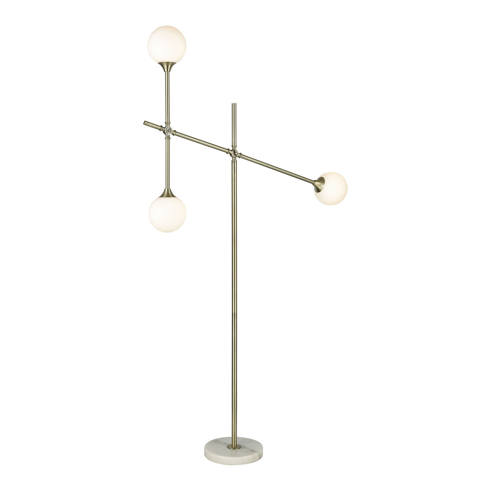 Trousedale 3-Light Arched Aged Brass/Frosted White