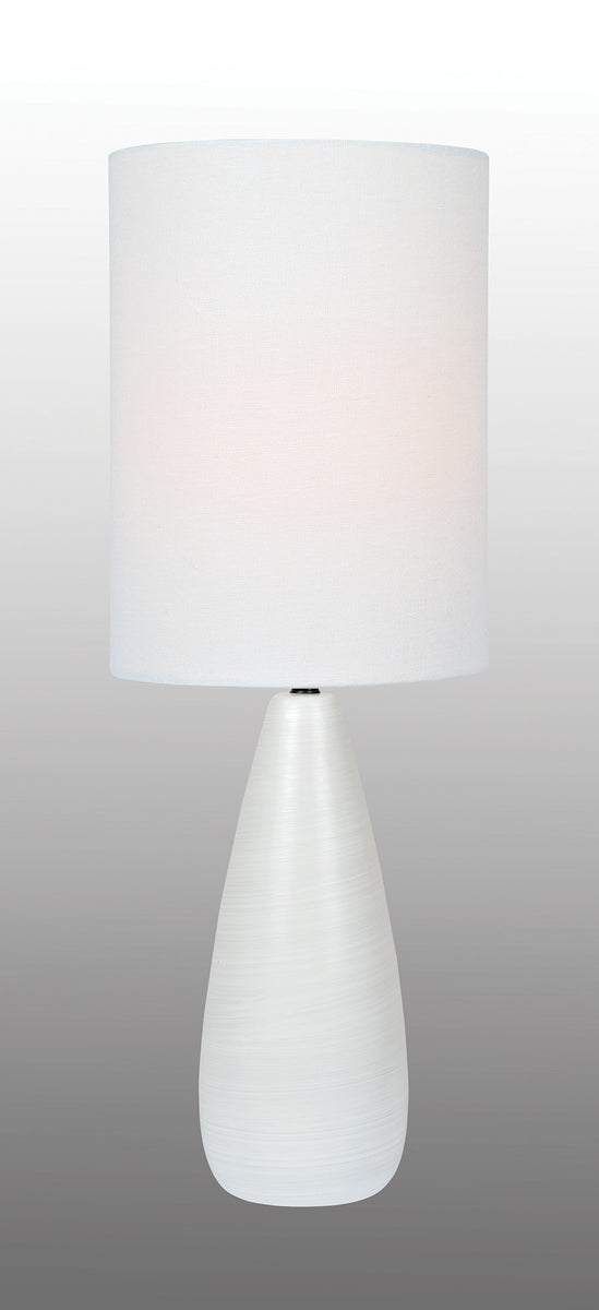 "26""H Quatro 1-light Table Lamp Brushed White"