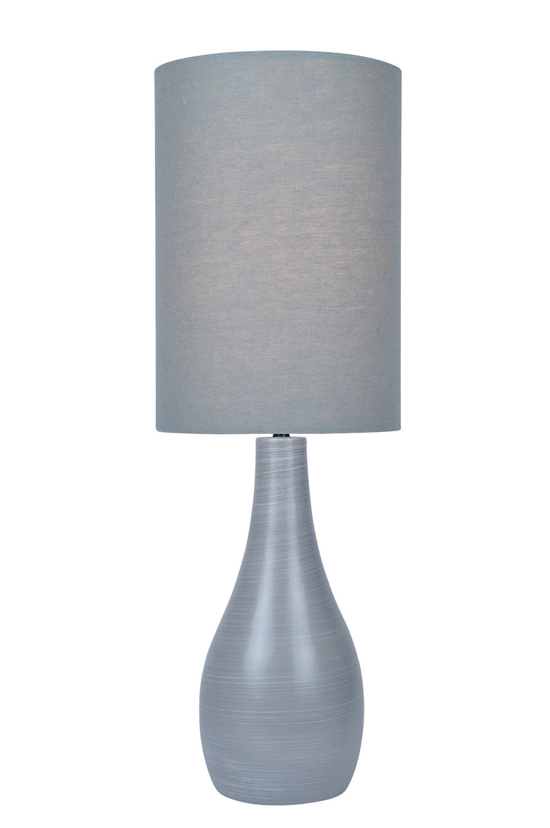 "31""H Quatro 1-light Table Lamp Brushed Grey"