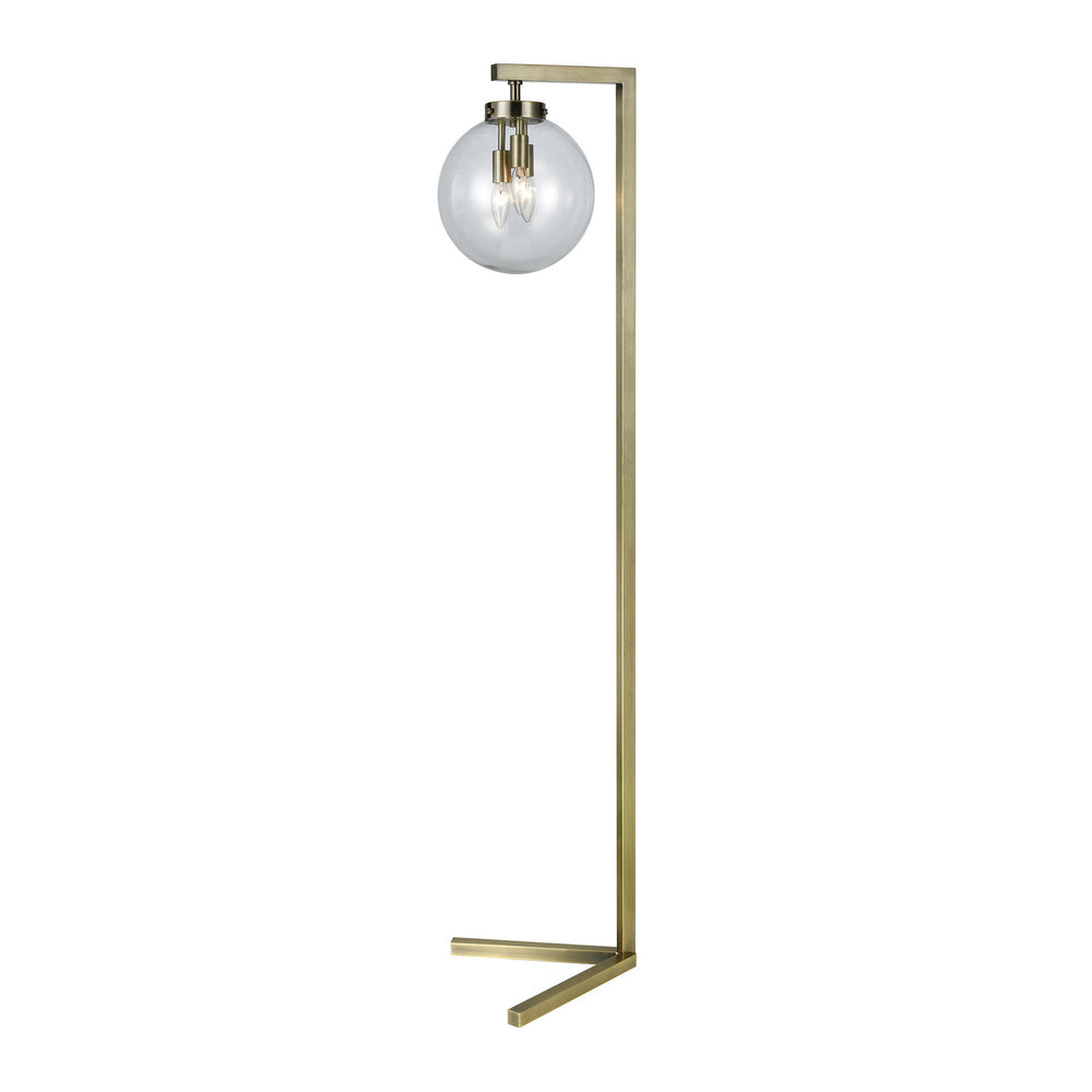 Carnegie Hill 3-Light Arch Floor Lamp Antique Brass