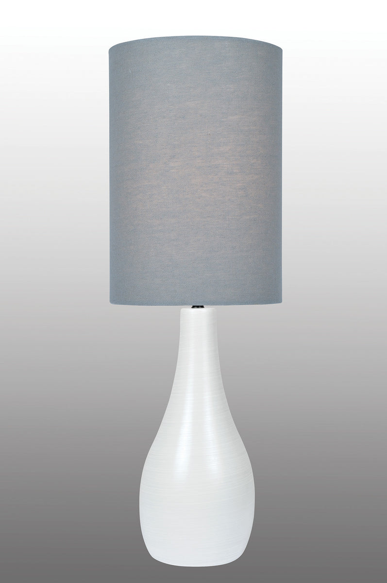 "31""H Quatro 1-light Table Lamp Brushed White"