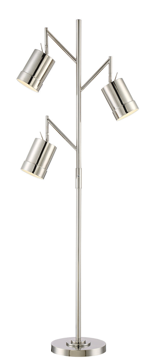 "66""H Tindra 3-light Metal Floor Lamp Chrome"