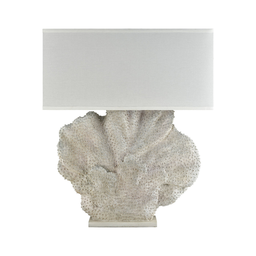 "46""H 1-Light Menemsha Oversized Outdoor Table Lamp Aged White Coral"