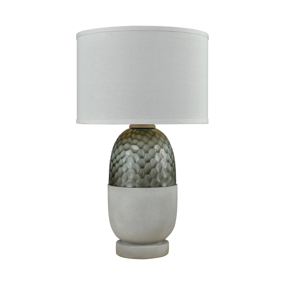"27""H 1-Light Reykjavik Outdoor Table Lamp Polished Concrete/Grey"