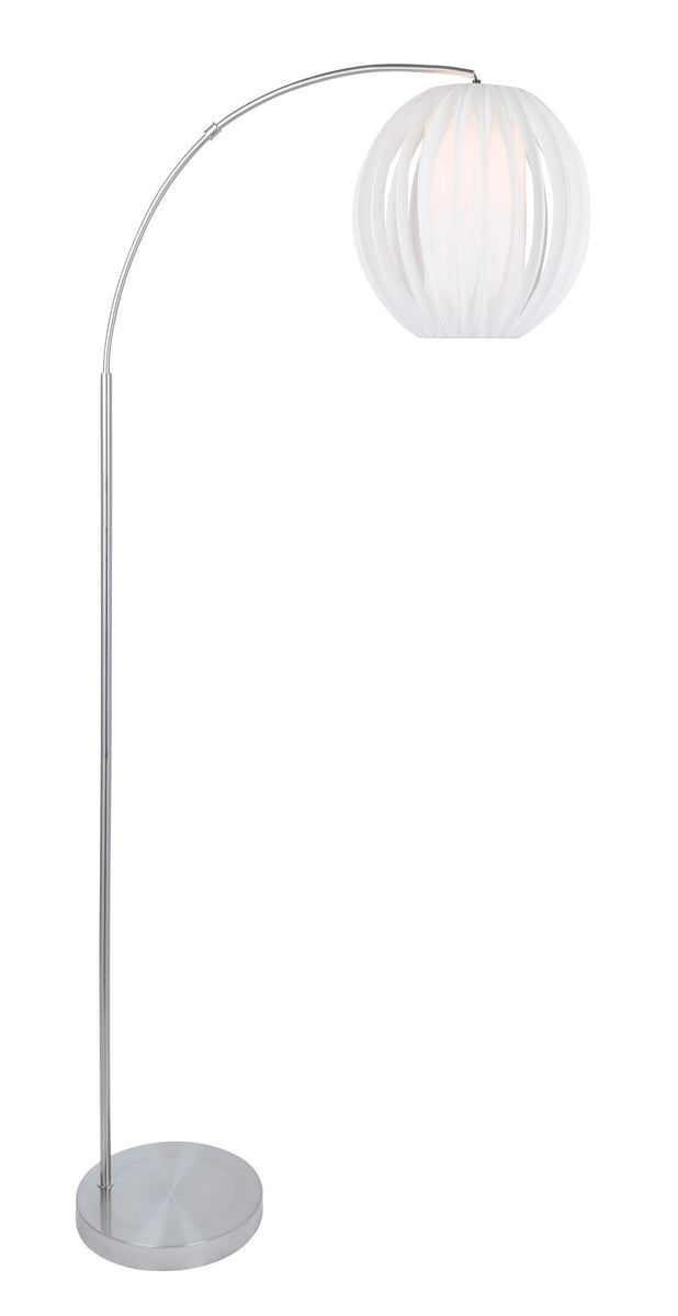 "80""H Deion 1-Light Arch Lamp Brushed Nickel"