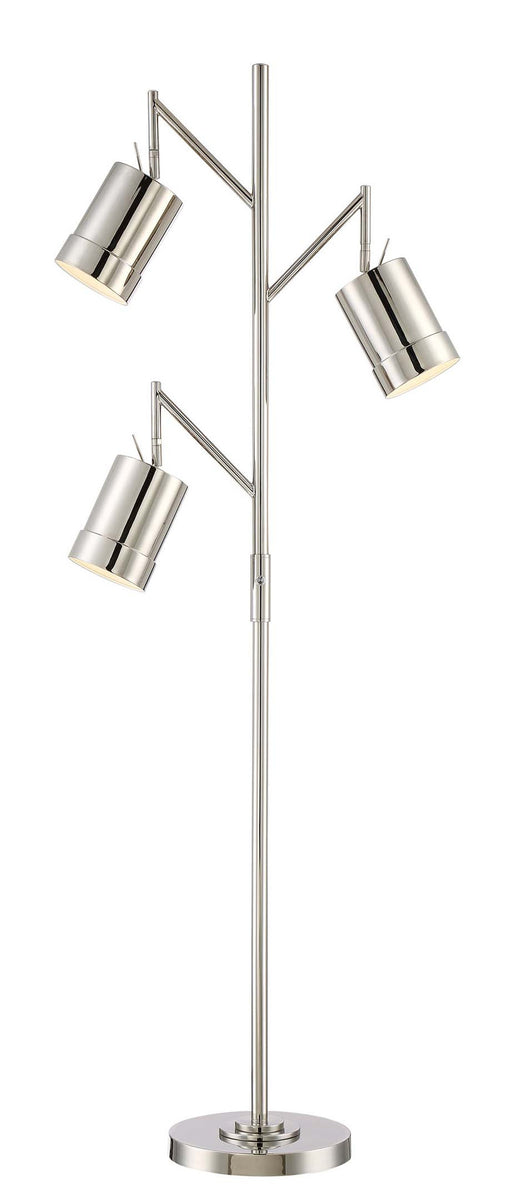 "65""H Tindra 3-light Metal Floor Lamp Chrome"