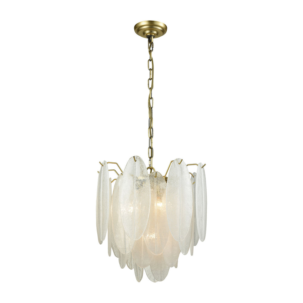4-Light Hush Pendant - Small White