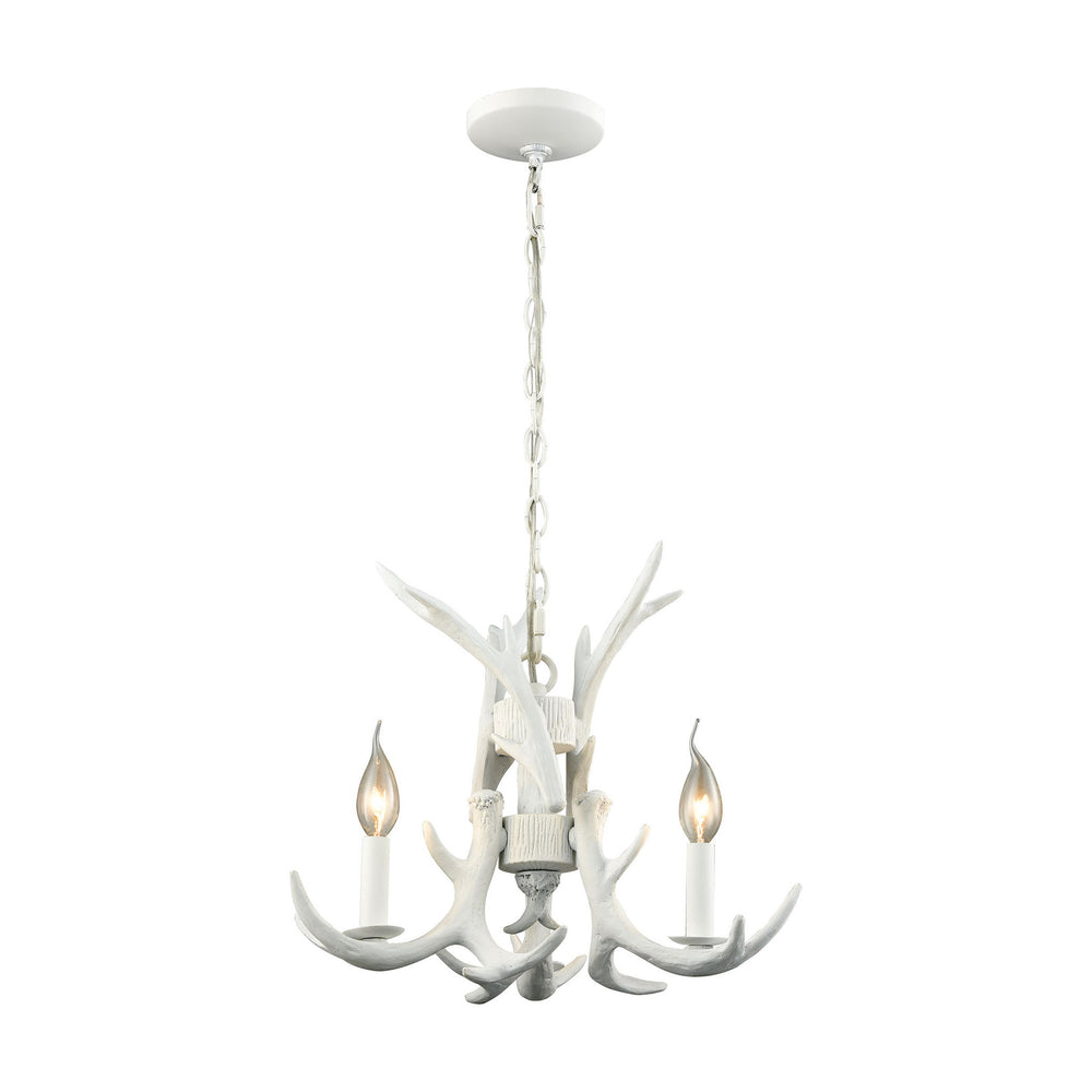 "17""W 3-Light Big Sky 3-Light Chandelier White"
