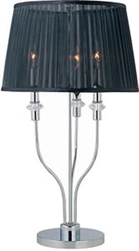 "29""H OPEN BOX Marrim Table Lamp Chrome/Black"