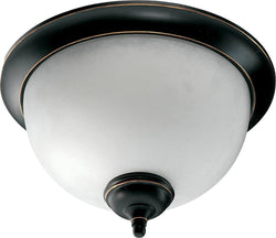 OPEN BOX Ashton 2-Light Flush Mount Fixture Old World