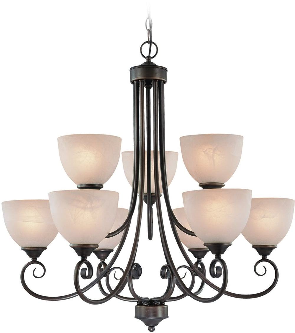 Raleigh 9-Light Chandelier Old Bronze