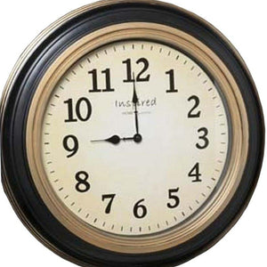 "21""H Madison Antique Face Wall Clock Black"