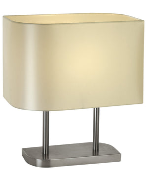 "17""H Shift 1-Light Table Lamp in Brushed Nickel Finish TT3092 by Trend Lighting"