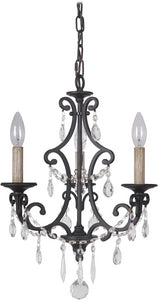 0-014004>Bentley 3-Light Chandelier Matte Black