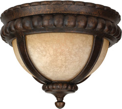 "14""w Prescott 1-Light Outdoor Flush Peruvian Bronze"