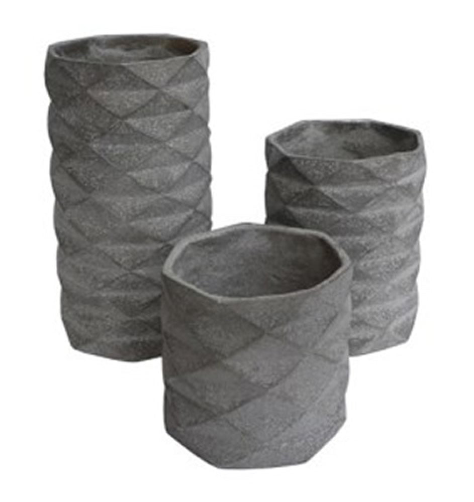 Charlot Vase (Set of 3) Gray