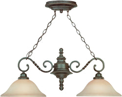 0-009699>Sutherland 2-Light Island Pendant Light English Toffee