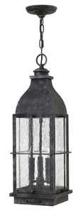 Bingham 3-Light Outdoor Hanging Light in Greystone