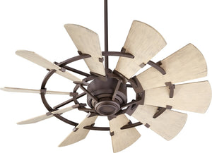 "44""W Windmill Patio Ceiling Fan Oiled Bronze"