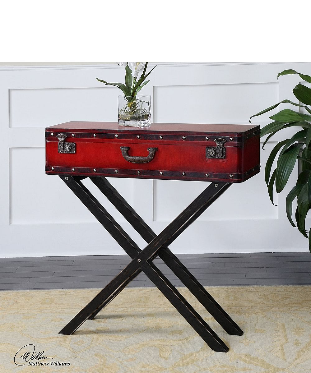 "32""H Taggart Red Console Table"