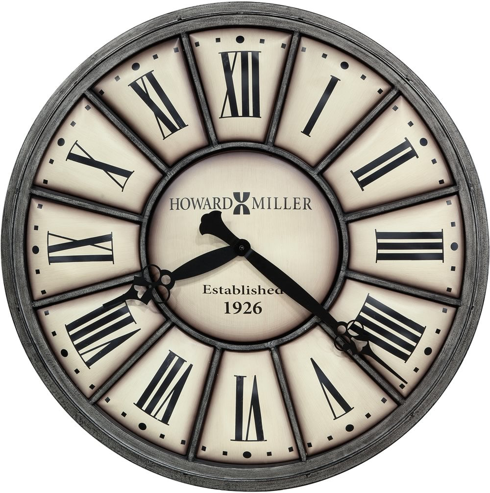 "34""H Company Time II Wall Clock Off White"