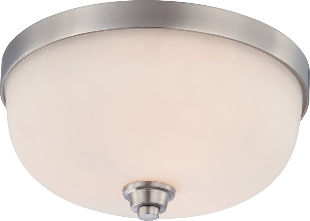 "15""W Helium 3-Light Close-to-Ceiling Brushed Nickel"