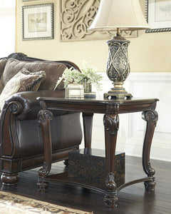 Norcastle Square End Table Dark Brown