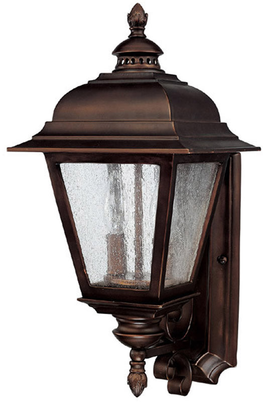 "19""H Brookwood 2-Light Outdoor Fixture Burnished Bronze"