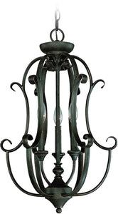 0-010254>Barrett Place 3-Light Foyer Light Mocha Bronze