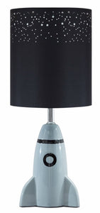 Cale Ceramic Table Lamp Single Gray/Black